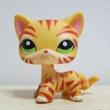 Hasbro Littlest Pet Shop Collection LPS Orange Tiger Tone Cat Kitty Very Rare A