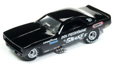 1973 Plymouth Cuda FUNNY CAR Prudhomme SNAKE BLACK * RR * RACING CHAMPIONS 1:64 OVP