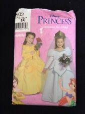 Simplicity Disney Princess Pattern 9902~Belle and Ariel Costumes~Size 3-8~Uncut