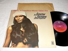 "Jimmy James/Vagabonds ""I'll Go Where Your Music Takes Me"" 1976 Disco LP,Nice EX!"