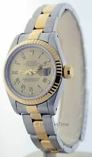 Rolex 69173 Womens Datejust Watch 18K Yellow Gold Steel Automatic Diamond Dial