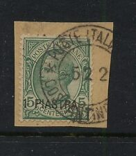 Italy colony,   Turkey   21 on piece   used       catalog  $325.00