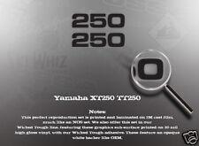 YAMAHA 1980 XT250 1982 TT250 SIDE COVER DECALS GRAPHICS