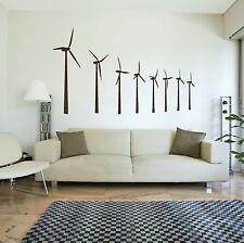 Windmills Vinyl Wall Sticker / Decal Art Transfer / Graphic Stencil Decor RA233