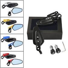 """2pcs Miroirs Rétroviseurs Guidon Moto Réglable à 360°Vue arrière 7/8"""" 22mm"""