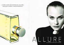 PUBLICITE ADVERTISING 015  1996  CHANEL  parfum femme ALLURE ( 2p)