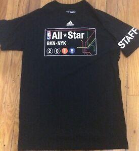 NBA 2015 All Star Game New York Official Mens Adidas STAFF T-Shirt Medium Knicks