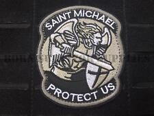 SAINT MICHAEL PROTECT US FABRIC PATCH ARCHANGEL Tactical Military Police Airsoft