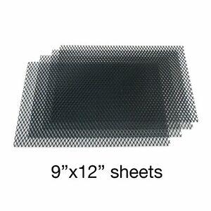 Black Grill Mesh 9 inch x 12 inch - 4 Sheets AutoLoc AUTUGMBK2 custom muscle