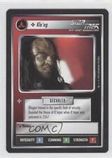 1994 Star Trek Customizable Card Game: 1st Edition Premiere #NoN Kle'eg 0l1