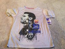 Messi Shirt. Youth Grey Small Poly T Shirt Tee By Hky Sportswear. New.