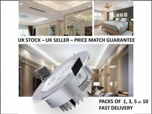 LED High Quality 3W 5W Downlights Recessed Round Ceiling Spotlights Tilt Angle