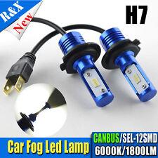 2X H7 LED FOG LIGHT LAMP WHITE 6000K BULBS CANBUS ERROR FREE SEL 1800LM DC12-24V