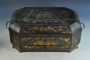 Antique Chinese Gilt Lacquered Game Box