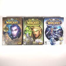 World of Warcraft Windows / Mac PC 3 Complete Box Sets