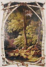 NM6665M Deer Bucks Lodge Outdoor Wallpaper Mural