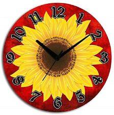 29 cm Floral Design Wooden Analog Wall Clock Kitchen Home Decor Clock