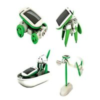 6 in 1 Creative DIY Educational Learning Power Solar Robot Kit Children Kid Toy