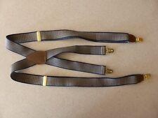 Pelican USA Checkered Beige Navy Suspenders Adjustable Clip On Clasp