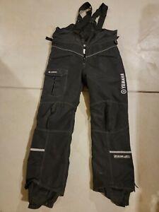 Yamaha Snow Pants Overalls Bibs Ski Snowmobile Snowboard Black - XL