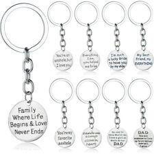 Bff Friend Father Gift Keyring Jewelry Hot Family Dad Keychain Boyfriend Husband