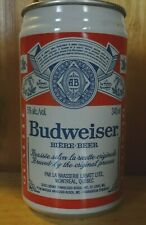 Budweiser Biere 341 ml. Aluminum Pull Tab Beer Can Montreal Quebec, Canada