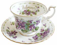 Royal Albert febrero Taza y Platillo flor del mes serie - 2nd Calidad