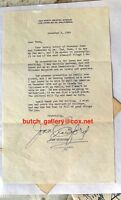 JOAN CRAWFORD letter about meeting Queen, family vacation signed autograph 1956