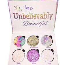 6 Color Women's Fashion GlitterLong-lasting Eyeshadow Palette Cosmetics