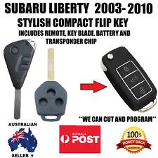 SUBARU LIBERTY REMOTE KEYLESS ENTRY FLIP KEY FOB TRANSPONDER 2003-2010