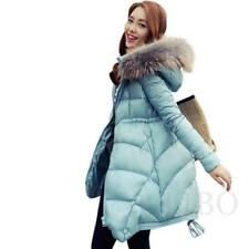 Warm Women's Winter Thicken Fur Collar Long Duck Down Jacket Coat Parka Hooded