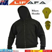 Motorcycle Armour Protective Fleece Reinforced Hoodie Made With DuPont™ Kevlar®
