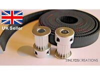 GT2 10mm Timing Belt and Pulleys 16 Teeth 5mm Bore, Prusa Reprap 3d printer part