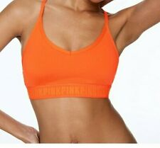 Victoria's Secret PINK Ultimate Padded Sports Bra ALOHA ORANGE SZ SMALL NWT