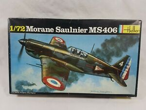 Morane Saulnier MS406 Vintage French 1/72 Fighter Plane Model Kit Heller 1980s