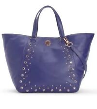 Juicy Couture Hollywood Genuine Leather Tote Cobalt Blue With Rose Gold Hardware