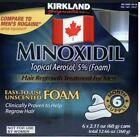 Kirkland Minoxidil5% Foam 3, 6, 12 month Supply FREE SHIPPING CANADA