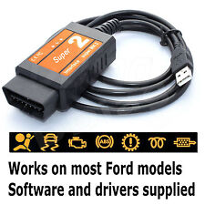 Fits Ford Transit OBD Diagnostic Scanner Tool USB Code Reader Interface Cable