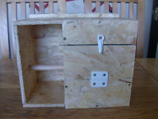 LOVEBIRD NEST BOX WITH PORCH/CRECHE FOR BREEDING - AVIARY CAGE LOVE BIRD FLIGHT