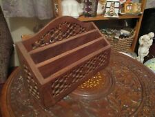 NICE    WOOD  INDONESIA 3 TIER LETTER RACK  VERY GOOD CONDITION