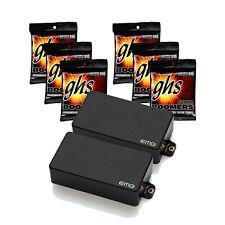 EMG Zakk Wylde Black Active Pickup Set w/ 6 Sets of GHS GBL Strings (10-46)