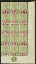 Turks Islands  1894  Scott #57   Mint Never Hinged Part Sheet