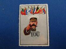 poster stamp cinderella vignette marken  propagande anglaise militaire needs you