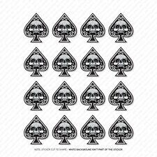 16 x Ace Of Spades Skull Stickers - Car Laptop Macbook Decals Sticker - SKU5360