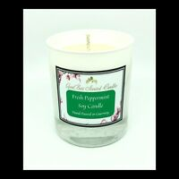 Fresh Peppermint Scented Soy Candle - GeriBeri Scented Candles