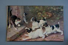 R&L Postcard: Faulkner Panel Card, Artist Type Jack Russell Terrier Dogs