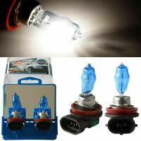 2x H11 12V 100W Xenon White 6000k Halogen Blue Car Head Light Lamp Globes Bulbs