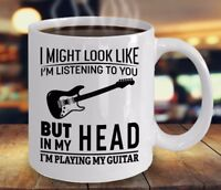 I'm Playing My Guitar Coffee Mug Funny Guitarist Mugs for Guitars Lover Gift