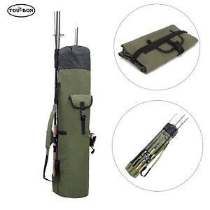 TOURBON Fishing Tool Rod Bag Large Capacity Pole Reel Tackle Holder Travel Case