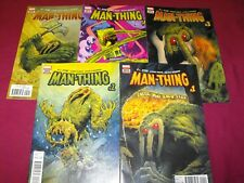 MAN-THING THOSE WHO KNOW FEAR 1-5 R.L. STINE MARVEL COMIC RUN SET 1 2 3 4 5